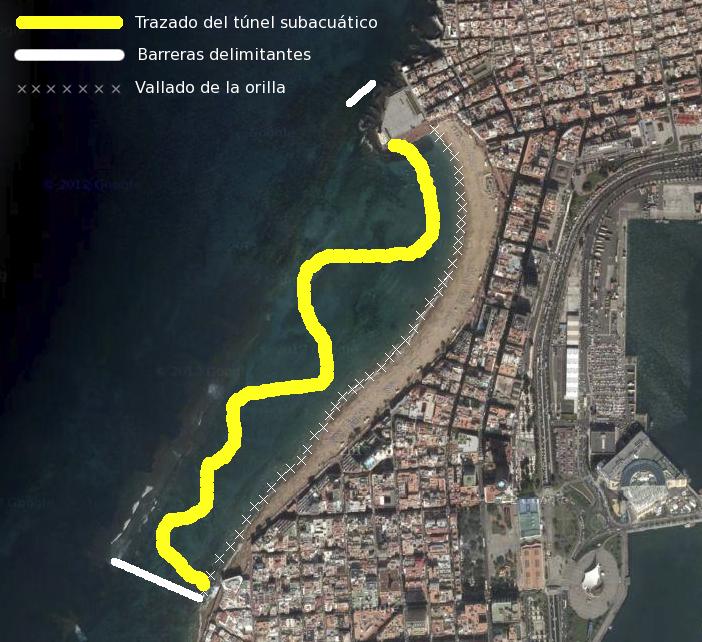 Plano sobre Google Maps de la configuración que tendrá el medusario
