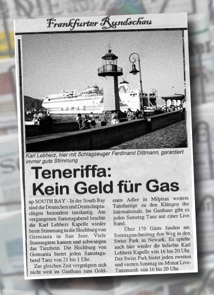 Recorte de la noticia aparecida en el diario alemán.