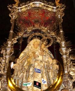 Recreación infográfica de la Virgen del Pino