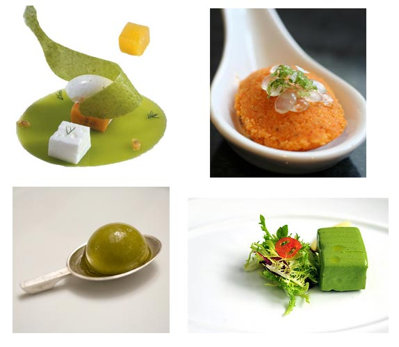 Varios de los platos mostrados a los asistentes