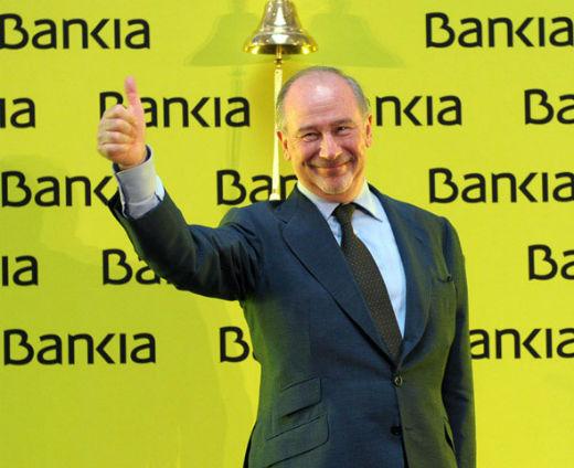 Rodrigo Rato, pocos meses antes de la quiebra e intervención del banco.