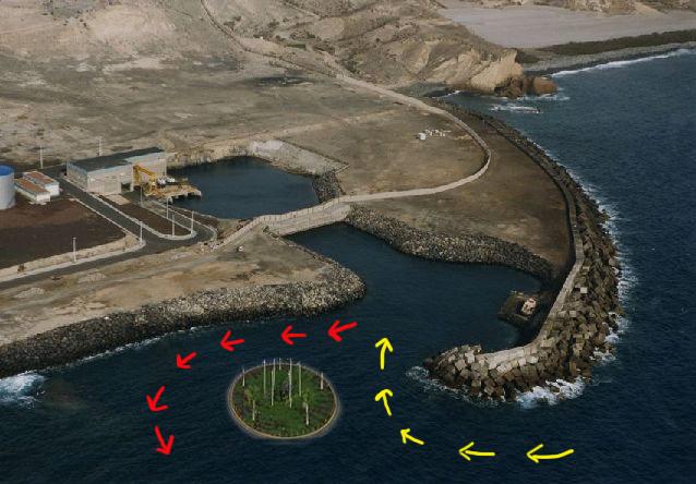 Recreación infográfica en la que se aprecia una de las futuras rotondas y se señalan las vías de entrada y salida al puerto.