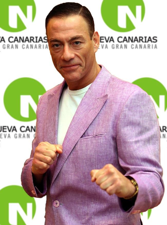 Van Damme, con la formación política canaria