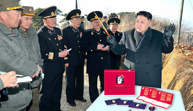 Kim Jong-un con su scattergories