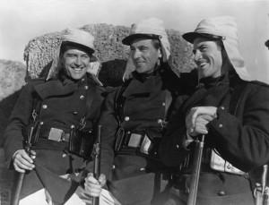 Primeros legionarios sud-gracioseros en pisar Alegranza
