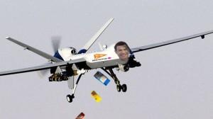 Recreación de cómo podrían ser los drones en pleno vuelo.