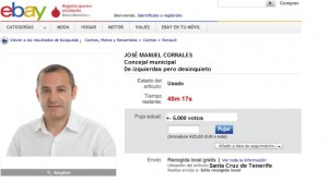 El anuncio del concejal en eBay no tuvo el éxito esperado