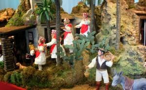 La escolta de danzarines herreños toma posiciones en La Graciosa (dramatización)
