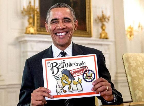 El presidente de EEUU, Barack Obama, ha sido de los primeros en felicitar a El Baifo Ilustrado por su segundo aniversario.