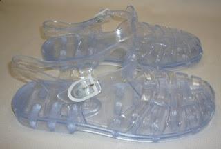 sandalia cangrejera transparente