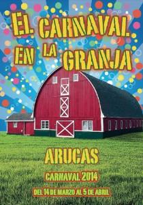 Cartel anunciador del carnaval aruquense