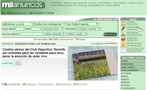 Proliferan en Internet los anuncios de aficionados del CD Tenerife que buscan cambiar su abono por entradas para las rondallas