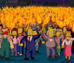 Una muchedumbre furiosita podría acabar dirigiéndose hacia la sede de Presidencia del Gobierno (imagen dramatizada)