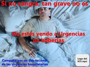 Cartel principal de la campaña que ha iniciado Sanidad para descongestionar las Urgencias de los hospitales canarios