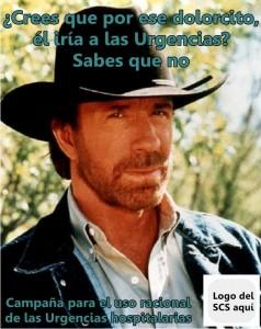Chuck Norris es la cara amable que llevará a los ciudadanos el uso racional de las Urgencias siguiendo su inspirador ejemplo