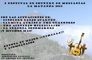 Cartel del I Festival de Country de Medianías