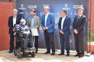 Stephen Hawking, en la presentación del Starmus III