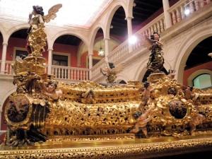 En este trono procesionará Alonso el próximo jueves.