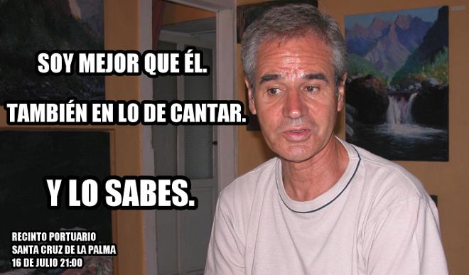 Uno de los memes promocionales del concierto en el que Julio Iglesias y Luis Morera compartirán cartel.