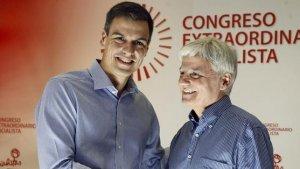 Pedro Sánchez y José Miguel Pérez, en tiempos más felices