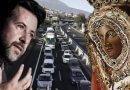 """La Virgen de Candelaria acepta la propuesta de Alonso pero advierte de que no intente endosarle """"lo de las carreteras"""""""