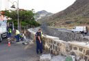Chicharrero del futuro visita el presente para avisar de que el puente provisional de San Andrés estará en servicio hasta 2081